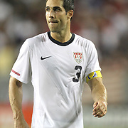USA defender Carlos Bocanegra (3) during a  CONCACAF Gold Cup soccer match between the United States and Panama on Saturday, June 11, 2011, at Raymond James Stadium in Tampa, Fla. (AP Photo/Alex Menendez)