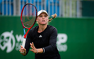 Elena Rybakina of Kazakhstan in action against Harriet Dart of Great Britain during her first round match at the 2021 Viking International WTA 500 tennis tournament on June 22, 2021 at Devonshire Park Tennis in Eastbourne, England - Photo Rob Prange / Spain ProSportsImages / DPPI / ProSportsImages / DPPI