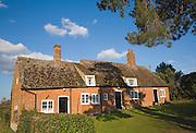 Three former cottages converted to small village hall, Shottisham, Suffolk, England