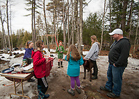 Maple Sugaring at the Sugar Shack with the Herrmann family and friends.  ©2018 Karen Bobotas Photographer