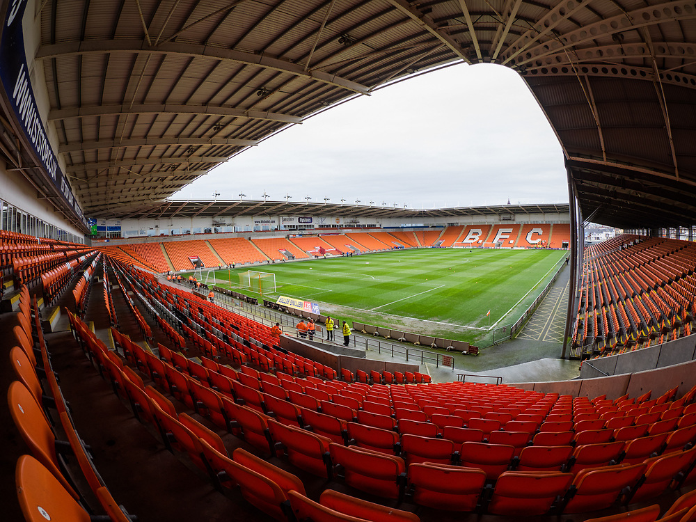 A general view of Bloomfield Road, home of Blackpool<br /> <br /> Photographer Terry Donnelly/CameraSport<br /> <br /> The EFL Sky Bet League Two - Blackpool v Accrington Stanley - Friday 14th April 2017 - Bloomfield Road - Blackpool<br /> <br /> World Copyright © 2017 CameraSport. All rights reserved. 43 Linden Ave. Countesthorpe. Leicester. England. LE8 5PG - Tel: +44 (0) 116 277 4147 - admin@camerasport.com - www.camerasport.com