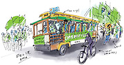 The Sounders MLS Cup march and rally. (Gabriel Campanario / The Seattle Times)