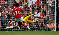 Photo: Richard Lane/Richard Lane Photography. Arsenal v Real Madrid. Emirates Cup. 03/08/2008. Arsenal's Emmanuel Adebayor scores a penalty goal.