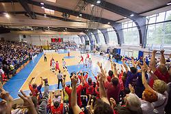 A view from spectator platform during basketball match between KK Rogaska and KK Tajfun in 3rd Round of Final of Slovenian National Basketball Championship 2014/15, on May 26, 2015 in Sportna dvorana, Rogaska Slatina, Slovenia. Photo by Ziga Zupan / Sportida