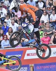 11-08-2018 BMX: EUROPEAN CHAMPIONSHIPS BMX CYCLING: GLASGOW<br /> Joris Harmsen finale BMX heren<br /> <br /> Foto: Margarita Bouma