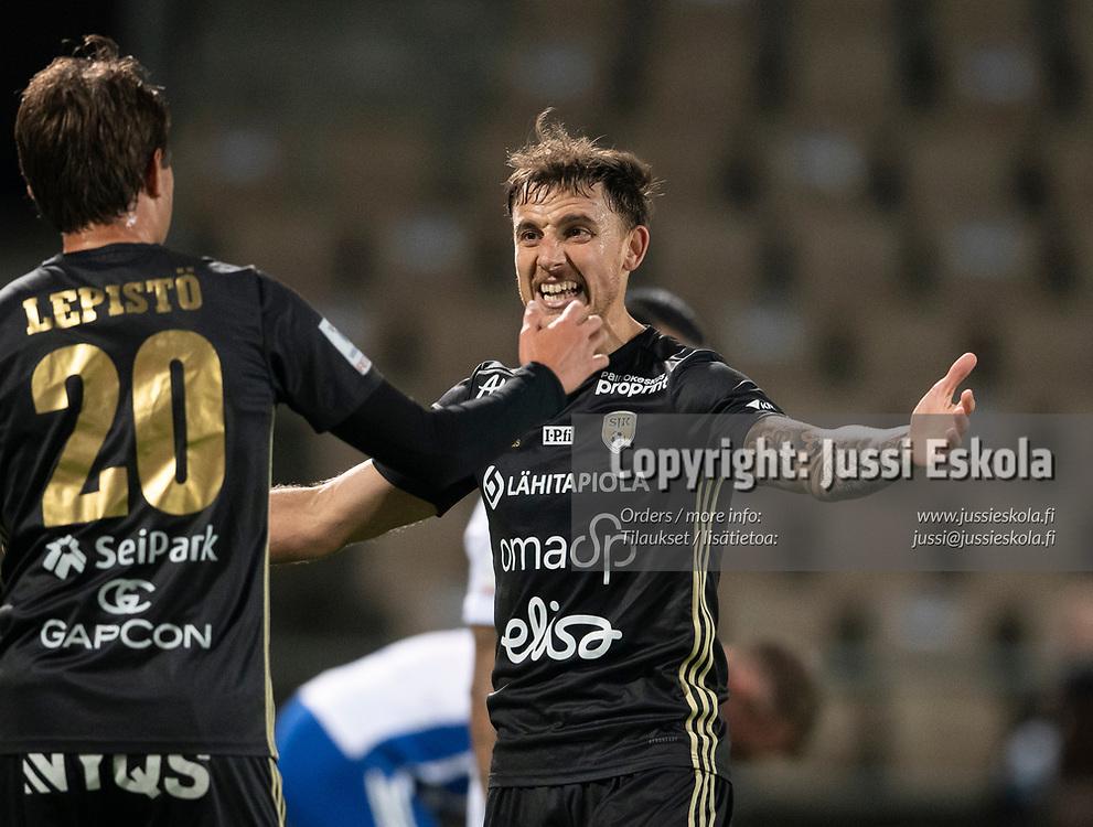 Rodrigo Sebastian Arciero. HJK - SJK. Veikkausliiga. Helsinki 3.10.2021. Photo: Jussi Eskola