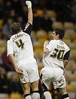 Photo: Aidan Ellis.<br /> Bradford City v Swansea City. Coca Cola League 1. 13/01/2007.<br /> Swansea's Kristian O'Leary celebrates his equlaiser
