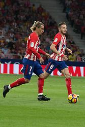 October 28, 2017 - Madrid, Spain - Griezmann (L) and Saul (R)..Draw at 1 in Wanda Metropolitano stadium. (Credit Image: © Jorge Gonzalez/Pacific Press via ZUMA Wire)