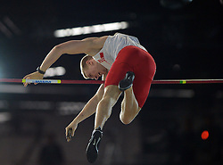 Piotr Lisek of Poland competes in the Men's Pole Vault Final during day one of the IAAF World Indoor Championships at Oregon Convention Center in Portland, Oregon, the United States, on March 17, 2016. Lisek won the third place with 5.75 meters. EXPA Pictures © 2016, PhotoCredit: EXPA/ Photoshot/ Yin Bogu<br /> <br /> *****ATTENTION - for AUT, SLO, CRO, SRB, BIH, MAZ, SUI only*****