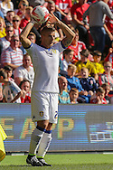 Leeds United defender Gaetano Berardi    during the Sky Bet Championship match between Middlesbrough and Leeds United at the Riverside Stadium, Middlesbrough, England on 27 September 2015. Photo by Simon Davies.