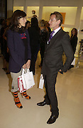 Bella Freud and Hamish Bowles, Camilla Morton book 'How To Walk In High Heels: The Girl's Guide To Everything.' launch party. Dior, 17 September 2005 . Saturday 17 September 2005.  ONE TIME USE ONLY - DO NOT ARCHIVE  © Copyright Photograph by Dafydd Jones 66 Stockwell Park Rd. London SW9 0DA Tel 020 7733 0108 www.dafjones.com