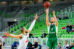 Sasa Zagorac of Krka during basketball match between KK Petrol Olimpija and KK Krka in Playoffs of Liga Nova KBM, on March 17, 2018 in Arena Stozice, Ljubljana, Slovenia. Photo by Ziga Zupan / Sportida