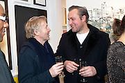 HARRY NICOLL; BEN TURNBULL;  Christmas Salon at Eleven. Eccleston st. London. 9 December 2010. -DO NOT ARCHIVE-© Copyright Photograph by Dafydd Jones. 248 Clapham Rd. London SW9 0PZ. Tel 0207 820 0771. www.dafjones.com.