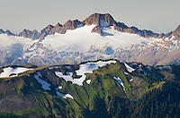 Sisters range seen from Skyline Divide, Mount Baker Wilderness, North Cascades Washington
