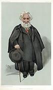 William Huggins (1824-1910) British astronomer and spectroscopist. Inventor of solar spectroscope. 'Spy' (Leslie Ward) cartoon from 'Vanity Fair' London 1903.