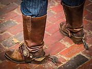 Wild West gunslingers in the Fort Worth Stockyards, Texas