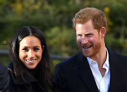Meghan Markle and Prince Harry during a Royal visit to Nottingham. Photo credit should read: M6027D/EMPICS Entertainment