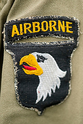 """Rufford Abbey 1940's Weekend Paratrooper from the 101st  Airborne """"Screaming Eagles""""<br /> <br />  30 September 2017 <br />   Copyright Paul David Drabble<br />   www.pauldaviddrabble.co.uk"""