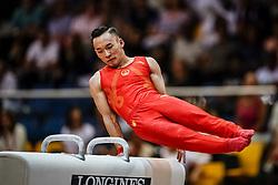 November 2, 2018 - Doha, Qatar - Ruoteng Xiao of China   during  Pommel Horse for Men at the Aspire Dome in Doha, Qatar, Artistic FIG Gymnastics World Championships on 2 of November 2018. (Credit Image: © Ulrik Pedersen/NurPhoto via ZUMA Press)