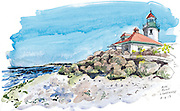 View of Alki Point Lighthouse in West Seattle. <br /> Gabriel Campanario / The Seattle Times