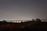 Salisbury Mills, New York -Stars and light pollution over the Moodna Viaduct railroad trestle on July 8, 2012.
