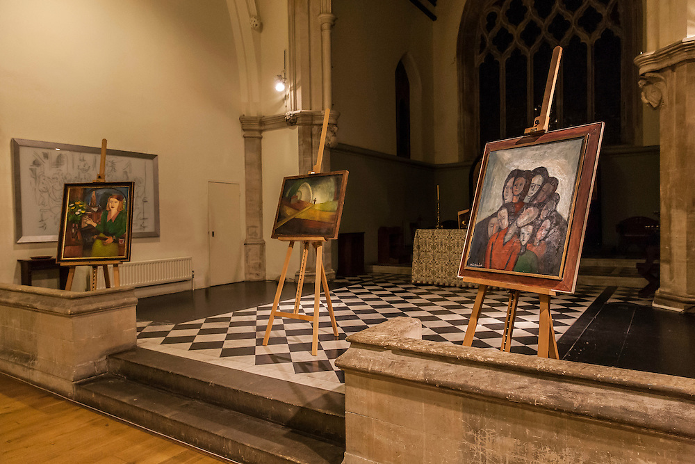 Alicia Melamed Adams, Holocaust Memorial Day Exhibition, St Lukes Vicarage, Penn Road, London, England, on 27th January 2016