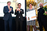 Zijne Majesteit de Koning reikt op donderdagochtend 18 mei de Appeltjes van Oranje uit op Paleis Noordeinde in Den Haag. De prijzen worden dit jaar toegekend aan drie sociale initiatieven die zich inzetten voor kwetsbare kinderen. <br /> <br /> His Majesty the King opens the Apples of Orange on Thursday morning 18 May at Noordeinde Palace in The Hague. The prizes are awarded this year to three social initiatives dedicated to vulnerable children.<br /> <br /> op de foto / on the photo: Prinses Beatrix  // Princess Beatrix
