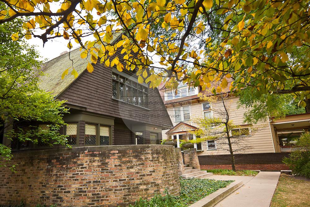Frank Lloyd Wright home and studio Oak Park, IL, USA.