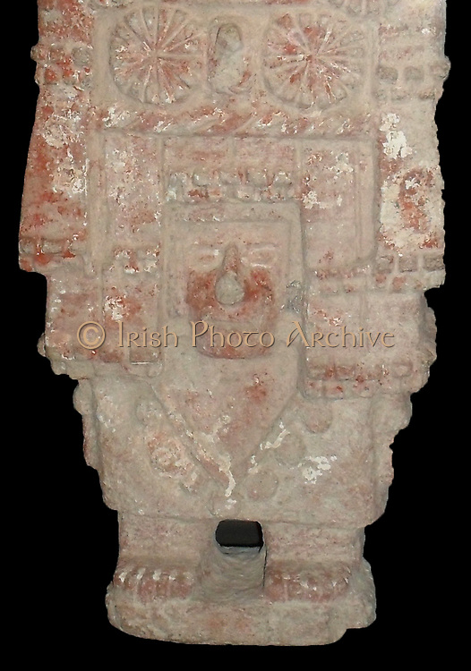 headdress represents a temple or grain store. the carved flowers were given as offerings. Aztec 1300-1521 AD, Mexico