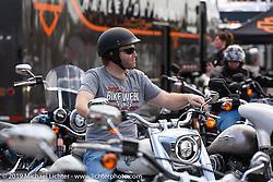 The Harley-Davidson display at Daytona International Speedway during Daytona Bike Week, FL. USA. Sunday March 11, 2018. Photography ©2018 Michael Lichter.