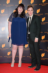 Sharon Rooney and Nico Mirallegro attend the RTS Programme Awards. London, United Kingdom. Tuesday, 18th March 2014. Picture by Chris Joseph / i-Images
