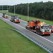 Zwaar transport fa. Zwagerman met kraan A6
