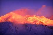 Image of mountains in Paradise Bay at sunset, Antarctica by Randy Wells