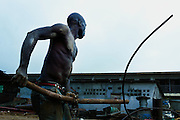 Scrap dealers in Monrovia.
