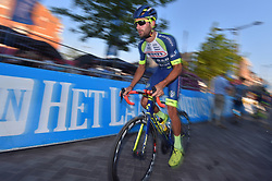 August 3, 2018 - Putte, BELGIUM - Belgian Guillaume Van Keirsbulck of Wanty-Groupe Gobert pictured in action during the one lap time trial at the 3rd edition of the 'Natourcriterium Putte' cycling event, Friday 03 August 2018 in Putte. The contest is a part of the traditional 'criteriums', local races in which mainly cyclists who rode the Tour de France compete. BELGA PHOTO LUC CLAESSEN (Credit Image: © Luc Claessen/Belga via ZUMA Press)