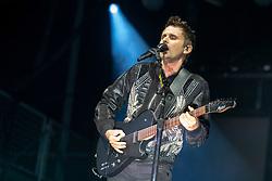 May 25, 2018 - Napa, California, U.S - MATTHEW BELLAMY of Muse during BottleRock Music Festival at Napa Valley Expo in Napa, California (Credit Image: © Daniel DeSlover via ZUMA Wire)