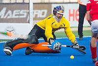 LUCKNOW (India) -   Junior World Cup hockey  U21 for men . AUSTRIA v MALAYSIA  (11th-12th place)  . goalie Lukas Glaser (Aut)  COPYRIGHT  KOEN SUYK