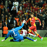 Galatasaray's Aydin Yilmaz (R) during their Turkish Superleague soccer match Galatasaray between SB Elazigspor at the AliSamiYen Spor Kompleksi at Aslantepe in Istanbul Turkey on Friday 19 April 2013. Photo by TURKPIX