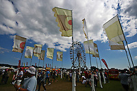 Flags & crowds at the Isle of Wight Rock Festival