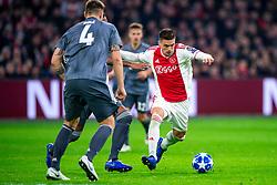 12-12-2018 NED: Champions League AFC Ajax - FC Bayern Munchen, Amsterdam<br /> Match day 6 Group E - Ajax - Bayern Munchen 3-3 / Niklas Sule #4 of Bayern Munich, Dusan Tadic #10 of Ajax