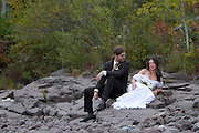 Jen and Bill beautiful, DIY Do it Yourself Homegrown wedding on the Shores of Lake Superior