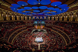 © Licensed to London News Pictures. London, UK  07/10/2011.  Members of the UK and US Armed Forces go head to head in the Royal Albert Hall cup boxing match. This is the first time a boxing event has taken place in the historic venue following a court ruling banning the use of the hall for boxing and wrestling in 1999. The Court of Appeal subsequently overturned the decision earlier this year. The venue has hosted some of the greatest names in British boxing including Sir Henry Cooper, Frank Bruno, Lennox Lewis and Prince Naseem Hamed. Photo credit: Ben Cawthra/LNP