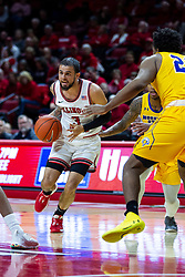 NORMAL, IL - December 07: Ricky Torres approaches the lane which is defended by LJ Bryan during a college basketball game between the ISU Redbirds and the Morehead State Eagles on December 07 2019 at Redbird Arena in Normal, IL. (Photo by Alan Look)