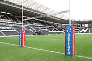 A general view inside the stadium prior to the Betfred Super League match between Hull FC and St Helens RFC at Kingston Communications Stadium, Hull, United Kingdom on 16 February 2020.