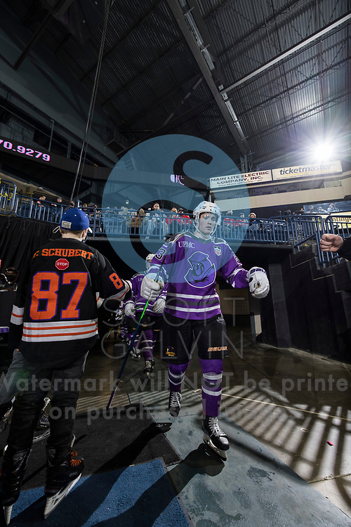 Youngstown Phantoms lose 3-2 in a shootout to the Muskegon Lumberjacks at the Covelli Centre on February 27, 2021.<br /> <br /> Cole Burtch, forward, 93