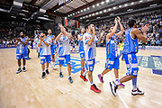 DESCRIZIONE : Campionato 2014/15 Dinamo Banco di Sardegna Sassari - Olimpia EA7 Emporio Armani Milano Playoff Semifinale Gara3<br /> GIOCATORE : Team Sassari<br /> CATEGORIA : Ritratto Esultanza Postgame<br /> SQUADRA : Dinamo Banco di Sardegna Sassari<br /> EVENTO : LegaBasket Serie A Beko 2014/2015 Playoff Semifinale Gara3<br /> GARA : Dinamo Banco di Sardegna Sassari - Olimpia EA7 Emporio Armani Milano Gara4<br /> DATA : 02/06/2015<br /> SPORT : Pallacanestro <br /> AUTORE : Agenzia Ciamillo-Castoria/L.Canu