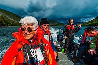 Skiff excursion, Wilderness Explorer (small cruise ship), Nakwasina Sound,  Inside Passage, Southeast Alaska USA.