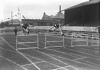 H2490<br /> Opening of Tailteann Games. Hurdles race.<br /> 1932 (Part of the Independent Newspapers Ireland/NLI Collection)