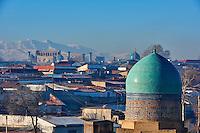 Ouzbékistan, Samarcande, classé Patrimoine Mondial de l'UNESCO, mausolée de Shah i Zinda // Uzbekistan, Samarkand, Unesco World Heritage, the Reghistan, Shah i Zinda mausoleum