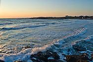 Rhode Island, Newport, House on cliff overlooking ocean